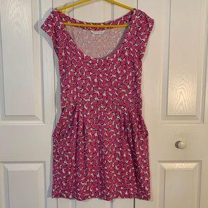 Diane Von Furstenberg Pink Pocket Dress Sz. M